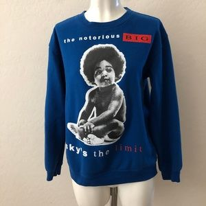 Sweaters - The Notorious BIG Blue Sweater